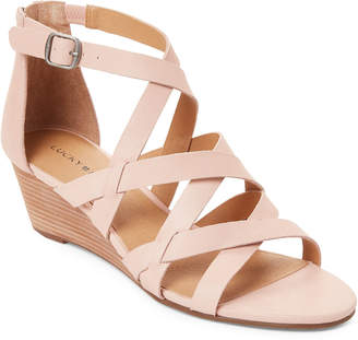 Lucky Brand Misty Rose Jewelia Strappy Wedge Sandals