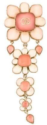Chanel CC Multi-Flower Link Brooch