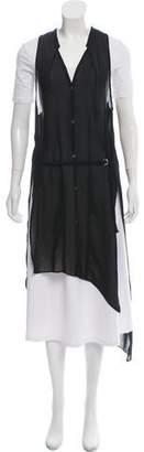 Helmut Lang Semi-Sheer Button-Up Vest