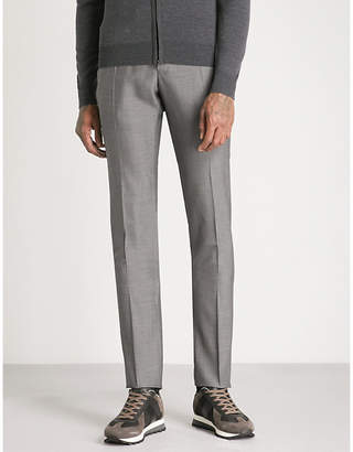 SLOWEAR Slim-fit straight wool trousers
