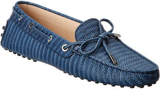 Tod's Gommino Embossed Leather Loafer