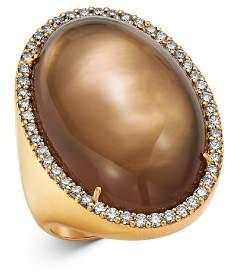 Roberto Coin 18K Rose Gold Smokey Quartz Cocktail Ring with Diamond