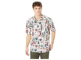 Quiksilver Waterman Mele Kalilimaka Short Sleeve Christmas Shirt