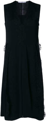Givenchy sleeveless lace trim midi dress