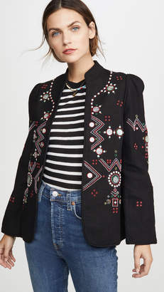 Bohemia Alix of Anja Black Jacket Folk Embroidery