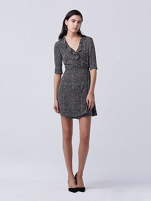Savilla Silk Wrap Dress $398 thestylecure.com