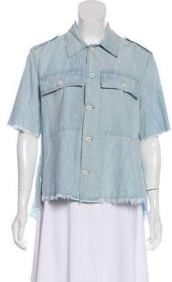 Amo Chambray Button-Up Top w/ Tags