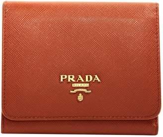 Prada Orange Leather Wallets