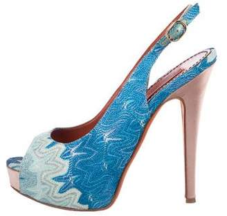 Missoni Peep-Toe Slingback Pumps