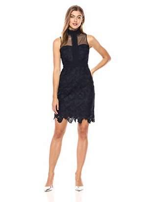 Nanette Lepore Nanette Women's Slvls Lace Sheath Dress W/Mock Nk