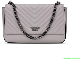 Victoria's Secret Victorias Secret Pebbled V-Quilt Shoulder-to-Crossbody Chain Bag