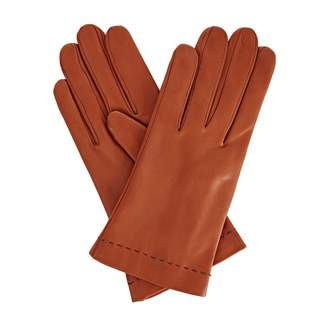Gizelle Renee - Emily Everyday Tan Brown Leather Gloves