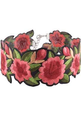 Cotton Candy Embroidered Floral Choker $19.99 thestylecure.com