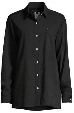 Lafayette 148 New York Everson Stretch Wool Shirt
