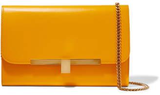 Victoria Beckham Leather Clutch - Mustard