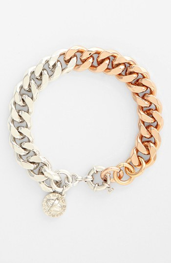 Marc by Marc Jacobs Boxed Small Link Bracelet (Nordstrom Exclusive) Silver/ Rose Gold
