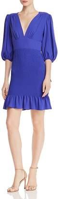 Amanda Uprichard Gala Smocked-Skirt Mini Dress