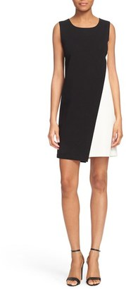 Diane von Furstenberg 'Livvy' Asymmetrical Colorblock Sleeveless Shift Dress $348 thestylecure.com