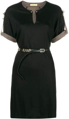 Versace belted short-sleeve dress