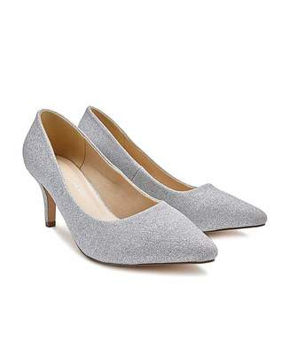 2e1070ae8f2 Silver Glitter Court Shoes - ShopStyle UK