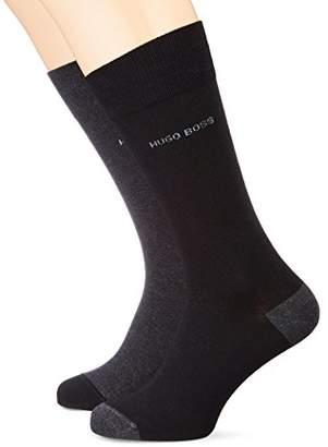 HUGO BOSS BOSS Men's 2p Rs Heel&Toe Cc Calf Socks, pack of 2
