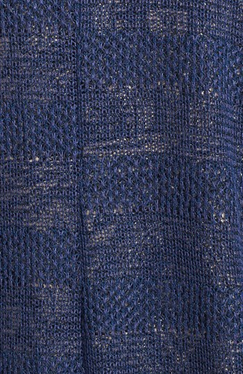 Lush Textured Stripe Sheer Cardigan (Juniors)
