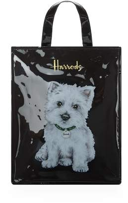 Harrods Medium Westie Puppy Shopper Bag