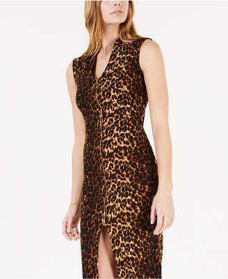 Almost Famous Juniors' Zip-Front Dress