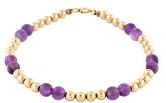 14K Amethyst Bead Bracelet
