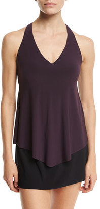 Magicsuit Taylor Tankini Underwire Swim Top, Purple, Plus Size $126 thestylecure.com
