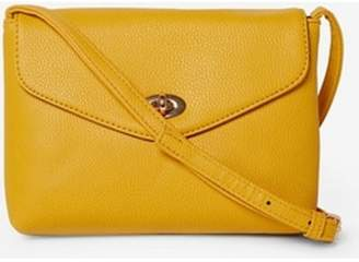 Dorothy Perkins Womens Mustard Twist Lock Cross Body Bag