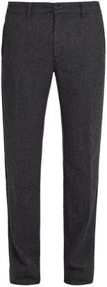 Massimo Alba Striped mid-rise wool trousers