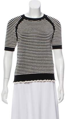 3.1 Phillip Lim Short Sleeve Patterned Sweater