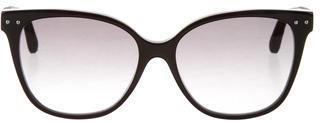 Bottega VenetaBottega Veneta Intrecciato Cat-Eye Sunglasses