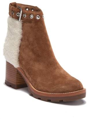 Sigerson Morrison Glove Suede Genuine Shearling Buckle Boot