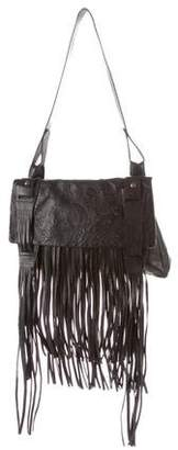 Clements Ribeiro Fringe-Trimmed Leather Bag