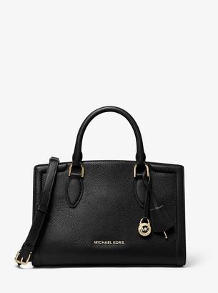 MICHAEL Michael Kors Zoe Medium Pebbled Leather Satchel