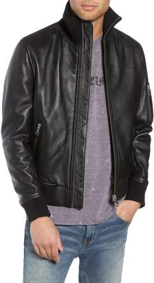 The Kooples Regular Fit Leather Jacket
