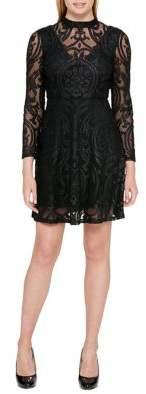 GUESS Velvet Little Black Dress
