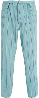 Haider Ackermann Striped tapered-leg trousers