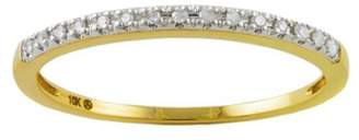 Private Label 10K Yellow Gold & 0.06ctw Diamond Dainty Stackable Ring Size 5