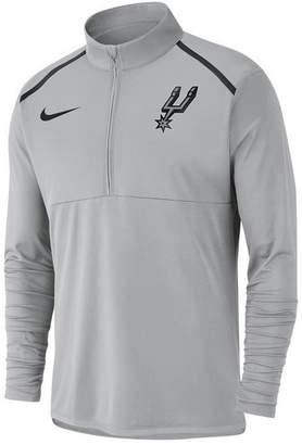 Nike Men's San Antonio Spurs Dry Long Sleeve Half-Zip Element Top