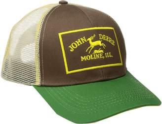 John Deere Men's Twill and Mesh Cap Embroidery