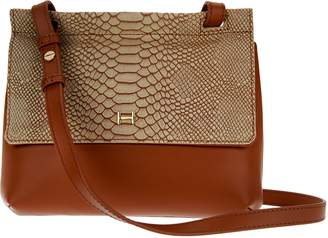 aa1b5e9421 Halston H By H by Snake Embossed   Smooth Leather Crossbody Bag