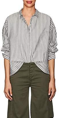 Nili Lotan Women's Fulton Striped Cotton Poplin Shirt