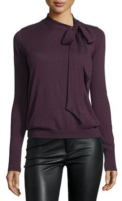 Autumn Cashmere Cashmere Tie-Neck Sweater $286 thestylecure.com