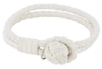Bottega Veneta Intrecciato Knot Metallic Leather Bracelet