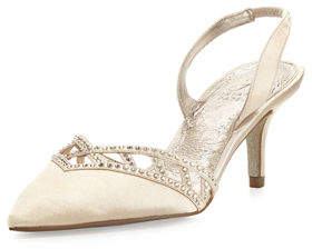 Adrianna Papell Haven Crystal-Trim Satin Pump