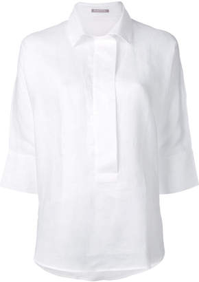 Hemisphere relaxed placket shirt
