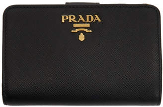 Prada Black Saffiano Leather Medium Wallet